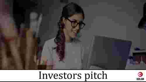 investor pitch template title slide